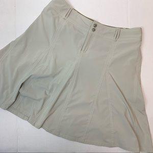 Athleta flared skirt khaki with shorts attached 10